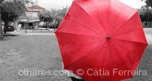 Fotografia de Rua/O guarda-chuva vermelho!