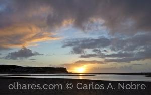 Paisagem Natural/Foz do Arelho ao pôr do sol