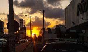 Fotografia de Rua/Por do sol na cidade