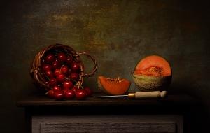 Outros/Natureza-morta com meloa e cerejas