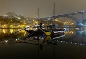 Paisagem Urbana/Atmosfera do Porto numa madrugada de nevoeiro