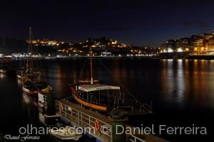 /A beleza do rio Douro, quando a noite cai