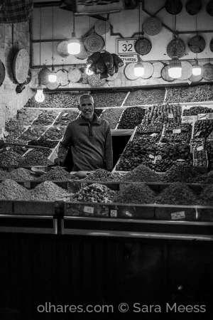 /The seller in the Heart of Marrakech