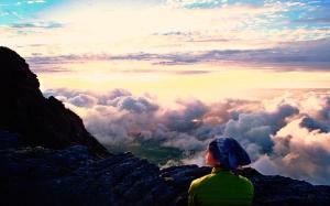 """Paisagem Natural/d[+]b """"Por cima das nuvens a ver o sol despedir-se"""