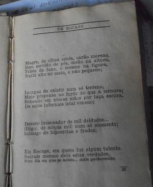 História/BOCAGE 1765-1805  com descrição