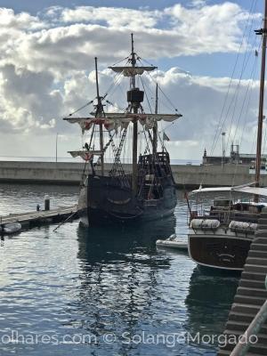 História/Réplica da nau Santa Maria, ilha da Madeira