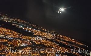 /Vista aérea de aproximação a Lisboa