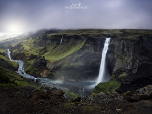/In the mist, Iceland.