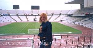 /Torcida no estádio do Barcelona FC