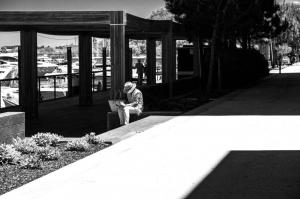 Fotografia de Rua/O banho de sol com letras...