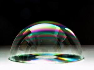 /bolla di sapone sul CD
