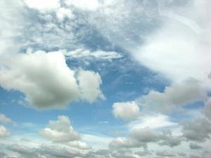 /céu de algodão doce