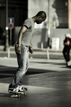 /Skater na Praça do Comércio