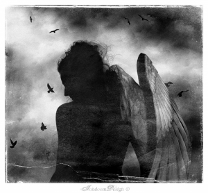 Arte Digital/Lamented Angel Beneath Black Skies