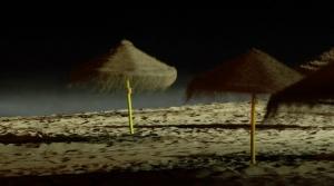 Paisagem Natural/noite na praia de faro