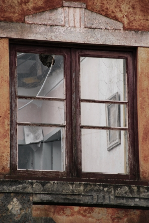 /There`s a paint beyond the window