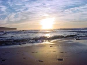 Paisagem Natural/Por do sol na praia