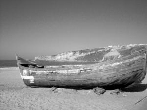 /Barco na Praia da Nazaré