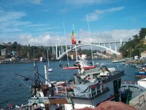 /Vista parcial do Douro e Ponte da Arrábida