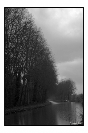 /un canal en hiver