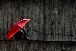 /red umbrella