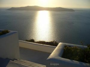 Paisagem Natural/Santorini-final do dia