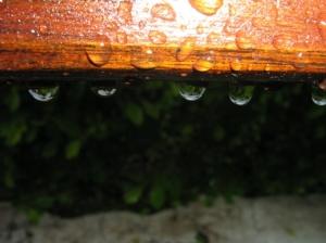 /Chove ... e molha o banco ...