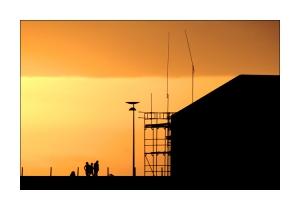 /Pôr do sol sobre Vila do Conde