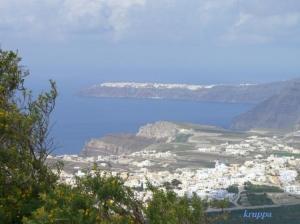 Paisagem Natural/Santorini-Grécia-Vísta do alto