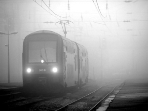 /Train in fog...
