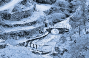 Arte Digital/Quando o o homem espalha a neve...