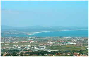 /Vista da Costa da Caparica a partir de Sintra