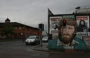 /Nas ruas de Belfast...