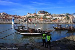 Paisagem Urbana/Gaia/Porto em dia de  Red Bull