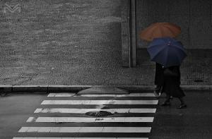 /Outside the crosswalk