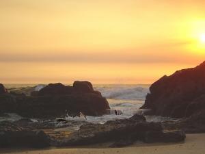 Paisagem Natural/Rochas ao Pôr do Sol