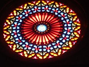 /a jogar oom os vitrais da catedral Palma Maiorca