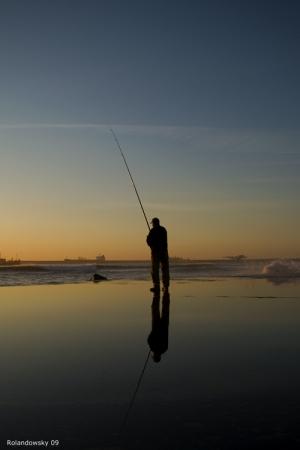 Gentes e Locais/Pescando ao por-do-sol