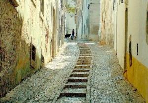 Paisagem Urbana/Escadas para o castelo