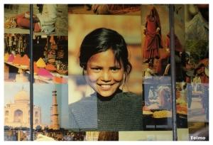 Gentes e Locais/Painel de restaurante indiano...