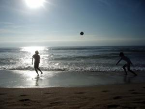/Na praia