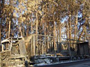 /Camião uma das vítimas dos incêndios