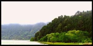 Paisagem Natural/Nevoeiro  na  lagoa das Furnas, Açores