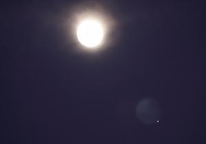 Paisagem Natural/A Lua, Saturno e ...outra Lua