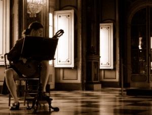 História/Músico no palácio de Queluz