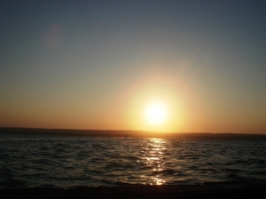 Paisagem Natural/Poente na baía de Inhambane