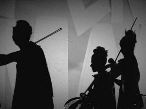 Abstrato/a sombra da música