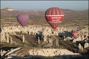 Paisagem Natural/De balão sobre a Capadócia