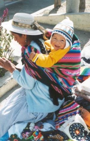 /Na fronteira da Bolívia com o Peru