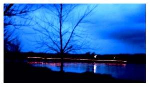 /Anoitece sobre a ponte...